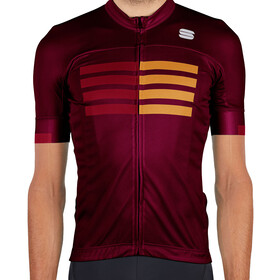 Sportful Wire Jersey Men red wine red rumba gold